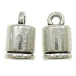 Końcówka ze stopu cynku, Stop cynku, Platerowane kolorem starego srebra, bez zawartości ołowiu i kadmu, 10x6mm, otwór:około 2mm, około 1110komputery/torba, sprzedane przez torba