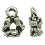 Zinc Alloy Pendants, antique silver color plated, 7x9.50x3.50mm, Hole:Approx 2mm, Approx 1110PCs/Bag, Sold By Bag
