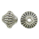 Zinc Alloy Jewelry Beads, Bicone, antique silver color plated, lead & cadmium free, 7x5.50mm, Hole:Approx 1.5mm, Approx 2000PCs/Bag, Sold By Bag