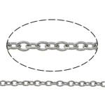 Owalne łańcucha ze stali nierdzewnej, Stal nierdzewna, oryginalny kolor, 1.50x1x0.30mm, długość:100 m, sprzedane przez wiele