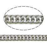 Łańcucha krawężnika ze stali nierdzewnej, Stal nierdzewna, skręt owalne, oryginalny kolor, 5.50x3.50x0.80mm, długość:100 m, sprzedane przez wiele