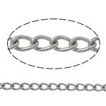 Owalne łańcucha ze stali nierdzewnej, Stal nierdzewna, skręt owalne, oryginalny kolor, 3x2x0.50mm, długość:100 m, sprzedane przez wiele
