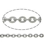Owalne łańcucha ze stali nierdzewnej, Stal nierdzewna, oryginalny kolor, 2.80x2.30x0.50mm, długość:100 m, sprzedane przez wiele