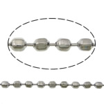 Stainless Steel Ball Chain, original color, 2.50x2mm, Length:100 m, Sold By Lot