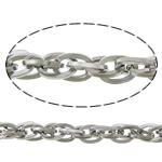 Łańcuch Lina ze stali nierdzewnej, Stal nierdzewna, lina łańcucha, oryginalny kolor, 9x6.50x1.20mm, długość:100 m, sprzedane przez wiele