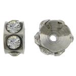 Ruostumaton teräs Välike helmiä, Rondelli, tekojalokivi, alkuperäinen väri, 2.50x4.50mm, Reikä:N. 0.8mm, 100PC/laukku, Myymät laukku