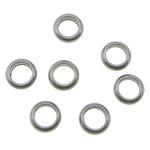 Roestvrij staal ring connectors, Donut, oorspronkelijke kleur, 4x1.50mm, Gat:Ca 2.5mm, 2000pC's/Bag, Verkocht door Bag