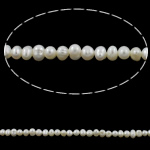 Potato Cultured Freshwater Pearl Beads, natural, white, 4-5mm, Hole:Approx 0.8mm, Sold Per Approx 14 Inch Strand