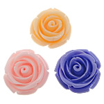 Koraliki z żywicy, żywica, Kwiat, mieszane kolory, 21x21x13mm, otwór:około 2mm, 500komputery/torba, sprzedane przez torba