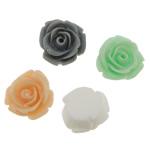 Koraliki z żywicy, żywica, Kwiat, mieszane kolory, 14x13x7mm, otwór:około 1.8mm, 500komputery/torba, sprzedane przez torba