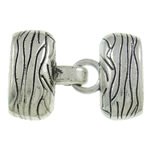 Zinc Alloy Hook and Eye Clasp, Rectangle, antique silver color plated, nickel, lead & cadmium free, 39x22x12mm, Hole:Approx 6.5x19.5mm, 20Sets/Bag, Sold By Bag