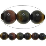 Natural Tiger Eye Beads, Round, Grade A, 8mm, Hole:Approx 1mm, Length:Approx 15 Inch, 5Strands/Lot, Approx 46PCs/Strand, Sold By Lot