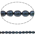 Rice Cultured Freshwater Pearl Beads, natural, black, Grade A, 8-9mm, Hole:Approx 0.8mm, Sold Per 15 Inch Strand
