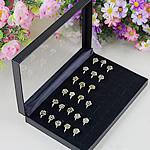 Plastik PCV Ekspozycja pierścionków, Prostokąt, czarny, 218x140x34mm, 10komputery/wiele, sprzedane przez wiele