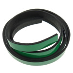 Leather Cord green 10x2mm Length:Approx 20 m 20Strands/Bag