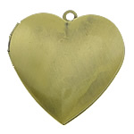 Brass Locket Pendants Heart antique bronze color plated brushed nickel lead   cadmium free 29x27x7mm Hole:Approx 2mm Inner Diameter:Approx 21x20mm 115PCs/Lot