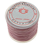 Elastic Thread, with plastic spool, pink, 1.30mm, Length:25 m, 20PCs/Lot, Sold By Lot