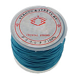 Elastic Thread, with plastic spool, blue, 1.30mm, Length:25 m, 20PCs/Lot, Sold By Lot