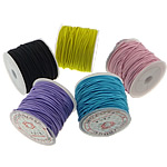 Elastic Thread, with plastic spool & Cloth, mixed colors, 1.30mm, Length:25 m, 20PCs/Lot, Sold By Lot