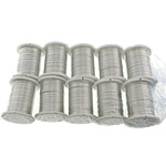 Copper Wire, with plastic spool, silver color plated, 0.30mm, Length:10 m, 10PCs/Lot, Sold By Lot
