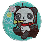 Iron on Patches, Cloth, Panda, 53x55mm, 50PCs/Bag, Sold By Bag