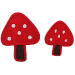 Iron on Patches, Cloth, mushroom, red, 50x60mm, 35x45mm, 50Sets/Bag, 2PCs/Set, Sold By Bag