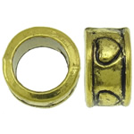 Zinc Alloy Jewelry Beads Donut antique gold color plated large hole nickel lead   cadmium free 8.5x4.5mm Hole:Approx 5.5mm Approx 1250PCs/KG