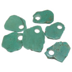 Turquoise Pendant, Natural Turquoise, green, 32-52x55-68x5-6mm, Hole:Approx 12mm, 30PCs/Lot, Sold By Lot