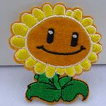 Żelaza na poprawki, Sukno, Kwiat, 70x65mm, 45komputery/torba, sprzedane przez torba