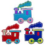 Żelaza na poprawki, Sukno, Pociąg, mieszane kolory, 50x57mm, 50komputery/torba, sprzedane przez torba