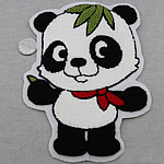 Iron on Patches, Cloth, Panda, 150x200mm, 10PCs/Bag, Sold By Bag