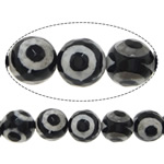 Natural Tibetan Agate Dzi Beads, Round, 10mm, Hole:Approx 1mm, Length:Approx 14.5 Inch, 5Strands/Lot, Sold By Lot