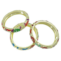 Zinc Alloy Bangle gold color plated enamel   with rhinestone mixed colors nickel lead   cadmium free 74x71x14mm Length:Approx 7.5 Inch 12PCs/Bag