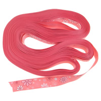 Grosgrain Ribbon lotus red 25mm Length:50 Yard 10PCs/Lot 5Yards/Strand
