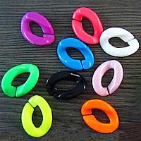 Akrylowy Pierścień łączący, Akryl, skręt, mieszane kolory, 24x18mm, 1000komputery/torba, sprzedane przez torba