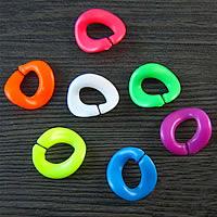 Akrylowy Pierścień łączący, Akryl, Pączek, mieszane kolory, 18x18mm, 1000komputery/torba, sprzedane przez torba