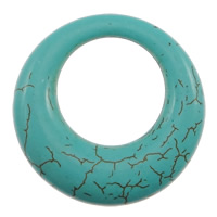Turquoise Pendant, Donut, turquoise blue, 34x6mm, Hole:Approx 19mm, 2KG/Lot, Approx 167PCs/KG, Sold By Lot