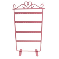 Iron Earring Display, Rack, painted, pink, nickel, lead & cadmium free, 165x305mm, 5PCs/Lot, Sold By Lot