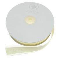Wstążka Szyfonowa, Szyfon, żółć pierwiosnka, 25mm, długość:100 stoczni, 20komputery/wiele, 5m/PC, sprzedane przez wiele
