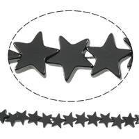 Niemagnetyczne koraliki z hematytu, Hematyt niemagnetyczny, Gwiazdka, czarny, gatunek, 8x2.50mm, otwór:około 1mm, długość:15.5 cal, 10nici/wiele, sprzedane przez wiele
