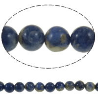 Natural Sodalite Beads, Round, Grade A, 10mm, Hole:Approx 1mm, Length:Approx 15 Inch, 5Strands/Lot, Approx 37PCs/Strand, Sold By Lot