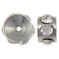Ruostumaton teräs Välike helmiä, 303 Stainless Steel, Rondelli, tekojalokivi, alkuperäinen väri, 4x6mm, Reikä:N. 1mm, 100PC/erä, Myymät erä