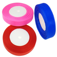Organza Ribbon, mixed colors, 20mm, 10PCs/Lot, 45m/PC, Sold By Lot