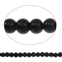 Round Crystal Beads, Jet, 6mm, Hole:Approx 1.5mm, Length:11.5 Inch, 10Strands/Bag, Sold By Bag