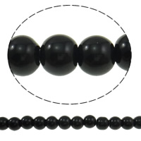 Round Crystal Beads, Jet, 8mm, Hole:Approx 1.5mm, Length:Approx 12 Inch, 10Strands/Bag, Sold By Bag