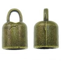 Końcówka ze stopu cynku, Stop cynku, Platerowane kolorem starego brązu, bez zawartości niklu, ołowiu i kadmu, 8x14mm, otwór:około 3x4mm, około 710komputery/KG, sprzedane przez KG