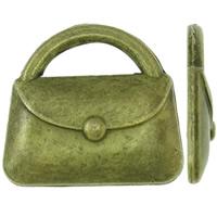 Zinklegering Handtas Hangers, Zinc Alloy, antiek brons plated, nikkel, lood en cadmium vrij, 22x20x3.50mm, Gat:Ca 11x3.5mm, Ca 355pC's/KG, Verkocht door KG
