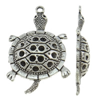 Zinc Alloy Pendant Rhinestone Setting Turtle antique silver color plated nickel lead   cadmium free 27.60x47x6mm Hole:Approx 2.5mm Inner Diameter:Approx 2.5 1mm Approx 172PCs/KG