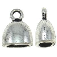 Końcówka ze stopu cynku, Stop cynku, Platerowane kolorem starego srebra, bez zawartości niklu, ołowiu i kadmu, 10x13x7mm, otwór:około 2mm, około 710komputery/KG, sprzedane przez KG