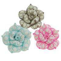 Koraliki z gliny polimerowej, Glina polimerowa, Kwiat, mieszane kolory, (20-22)x(10-12)mm, otwór:około 1-2mm, 100komputery/torba, sprzedane przez torba
